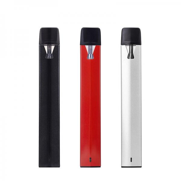 Rechargeable Blank Custom Print Ceramic Coil 0.5ml Empty Cbd Vape Pen Wickless Black Tip